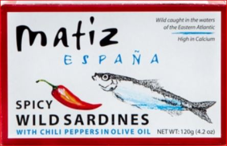 Matiz Spicy Sardines in Olive Oil 4.2 oz.